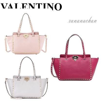 VALENTINO rock studded small tote bag