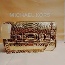 限定セール【Michael Kors】Hamilton Small Shoulder Flap Gold