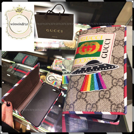 GUCCI iPhone・スマホケース 国内発送★2017SS GUCCI グッチ クーリエ iphone7ケース