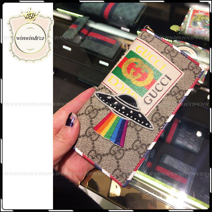 GUCCI iPhone・スマホケース 国内発送★2017SS GUCCI グッチ クーリエ iphone7ケース(4)