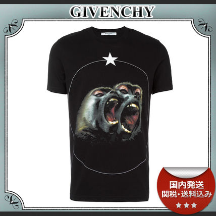 17SS/送関込≪GIVENCHY≫ Monkey Brothers プリント Tシャツ