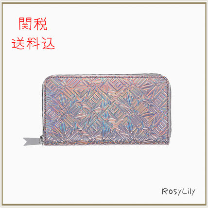 And Iridescent Flying KENZO round zip long wallet