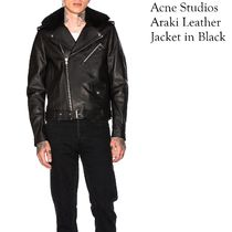 ACNE Araki lamb leather Jacket black ラムレザージャケット