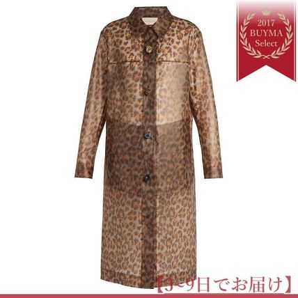 Runway Leopard-print frosted rubberised coat