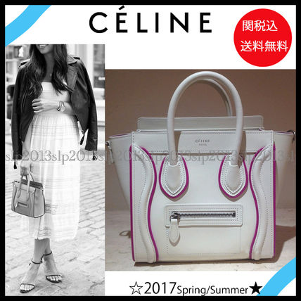 New■CELINE■激レア☆大人気ナノショッパーWhite&Pink☆関税込