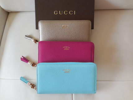 GUCCI 3 colors and TASSEL long wallet Bamboo