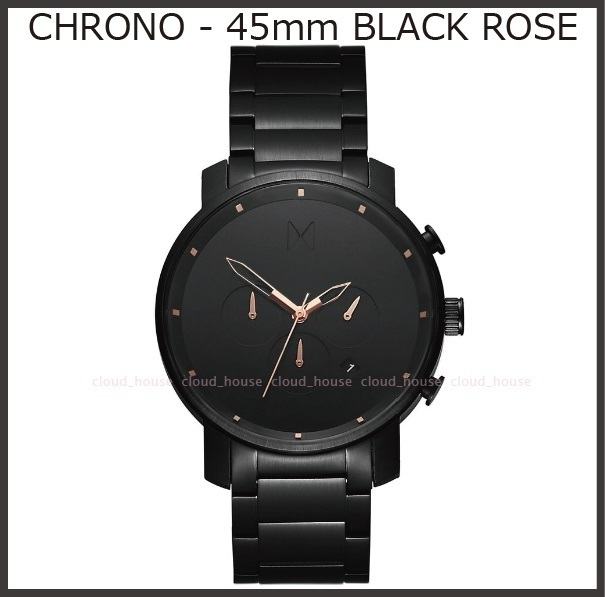送料&税込【MVMT Watches】CHRONO BLACK ROSE 45mm☆国内発送