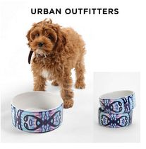 Urban Outfitters(アーバンアウトフィッターズ) フードボウル・えさ関連  Urban Outfitters☆ Caleb Troy DENY Carried Away Pet BowlSet