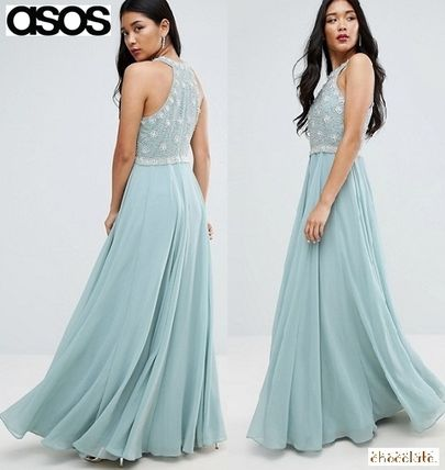Transmission * ASOS * decorated Maxi /mint