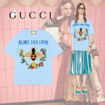 GUCCI Bee And Flower Embroideries Cotton T-shirt