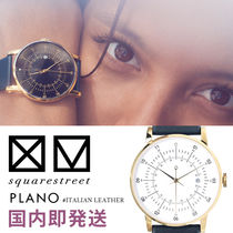 【Square Street】 #PLANO [Italian leather] 38mm 腕時計