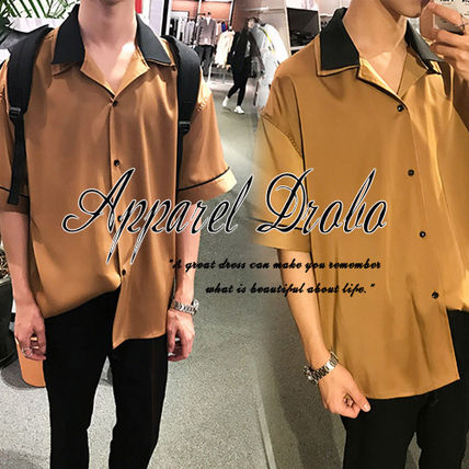 Shirt casual simple designs V neck by color