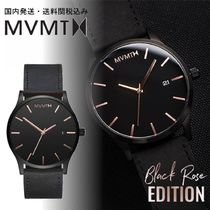 送料関税込・国内発送☆MVMT☆CLASSIC☆BLACK ROSE LEATHER 45mm