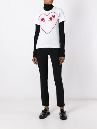 COMME des GARCONS Tシャツ・カットソー 国内2~3日COMME des GARCONS*PLAY黒&赤ハートロゴTシャツ 白(11)