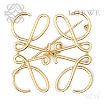 LOEWE★ロエベ Anagram Brooch Gold