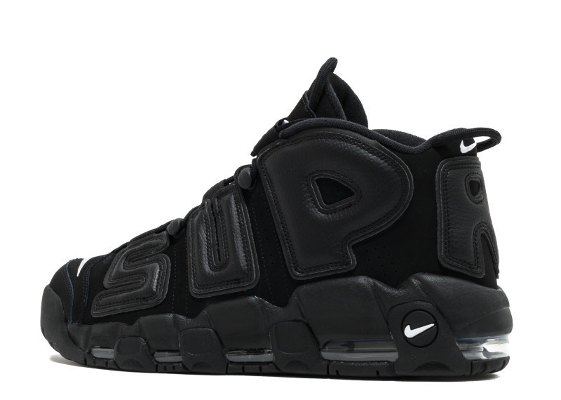 "★人気 Nike AIR MORE UPTEMPO ""SUPREME"" ブラック★"