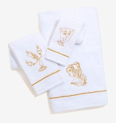 Disney beauty and the beast 3 types of towel
