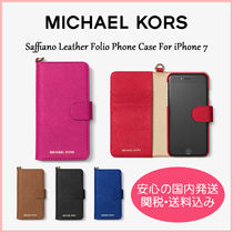 【国内発送】Saffiano Leather Folio iPhone 7 Case セール