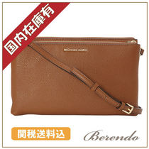 SALE 国内発送◆Michael Kors Adele Double Zip Crossbody 茶色