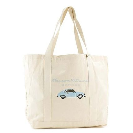 Maison KITSUNE tote bag 832 ECBL color:ECR LIGHT BLUE