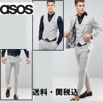 ASOS スキニー スーツ In Light Grey Texture