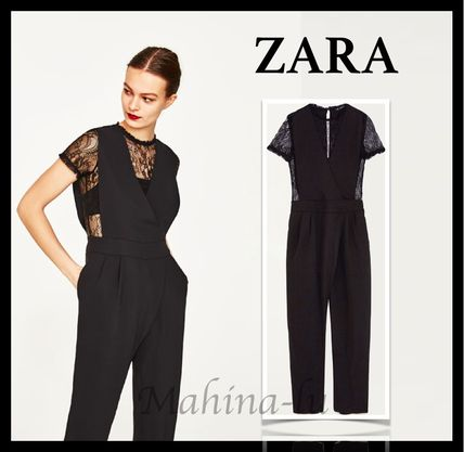 ZARA contrast lace all-in-one