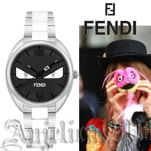 ★レア★ Fendi Momento Bugs Black Dial Watch F216031104D1