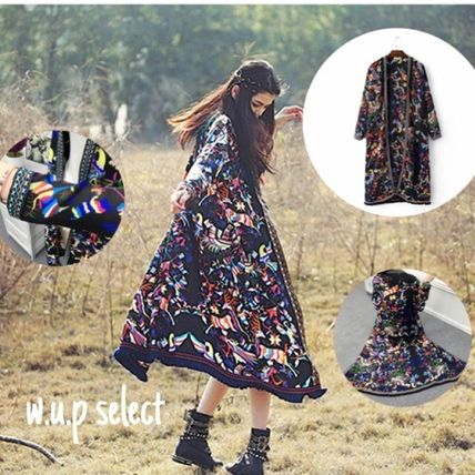 Trend Bohemian folk colorful gowns
