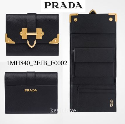 PRADA Gold bracket is the point bifold wallet 1MH840_2EJB