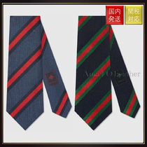 【グッチ】Regimental Stripe Silk Cotton Tie ネクタイ 2色展開
