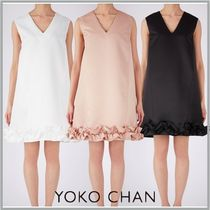 [すぐ届く]国内発☆YOKOCHAN  A-line Hem Gatherd Dress