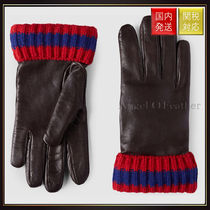 GUCCI(グッチ) 手袋 【グッチ】Leather And Cashmere Gloves 手袋