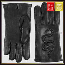 GUCCI(グッチ) 手袋 【グッチ】Snake Embossed Leather Gloves 手袋