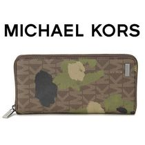 ☆Michael Kors☆ Jet Set Painterly Camo 長財布 EVERGREEN♪