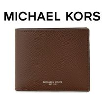 ☆Michael Kors☆ HARRISON Leather Billfold 折り財布 BROWN♪