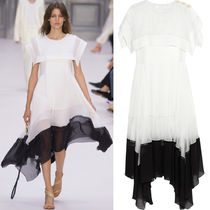17SS C207 LOOK22 CREPE VOILE MIDI DRESS WITH SAILOR COLLAR