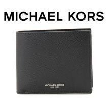 ☆Michael Kors☆ HARRISON Leather Billfold 折り財布 BLACK♪