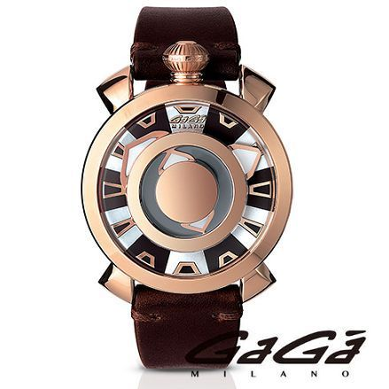 ☆GaGa MILANO☆ 腕時計 MYSTERIEUSE 48MM ROSE GOLD PLATED♪