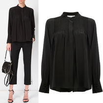 17SS C212 PINTUCK TAILORED SILK BLOUSE