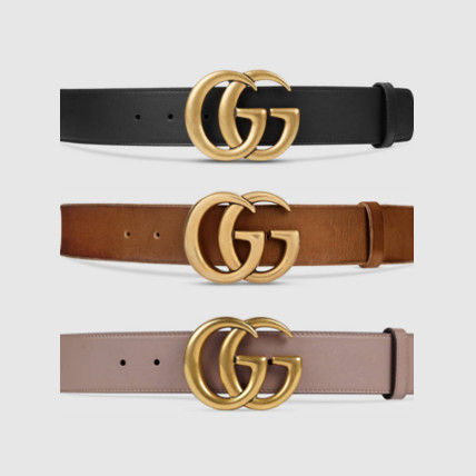GUCCI * double G buckle leather belt * all