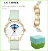 【Kate Spade】クジャクの羽が変わる!peacock metro watch★