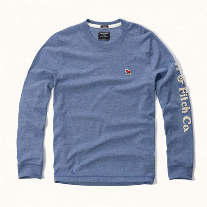 Abercrombie & Fitch スウェット・トレーナー APPLIQUE GRAPHIC LONG SLEEVE TEEがかっこいい!(4)