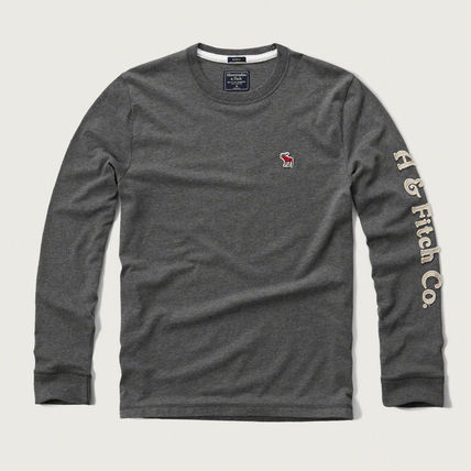 Abercrombie & Fitch スウェット・トレーナー APPLIQUE GRAPHIC LONG SLEEVE TEEがかっこいい!
