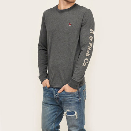 Abercrombie & Fitch スウェット・トレーナー APPLIQUE GRAPHIC LONG SLEEVE TEEがかっこいい!(2)