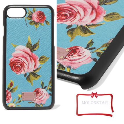 Dolce & Gabbana-print leather iPhone case 7