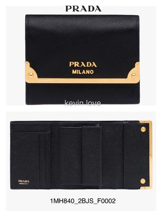 1MH840_2BJS point bifold wallet is sold out PRADA Gold
