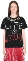 GUCCI☆【定番人気】EMBELLISHED JERSEY Tシャツ