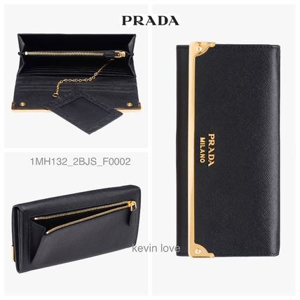 Classy points PRADA Gold hardware long wallet 1MH132_2BJS