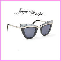 Jeepers Peepers(ジーパーズ ピーパーズ) サングラス 関送込Jeepers Peepers☆大理石プリントキャットアイサングラス