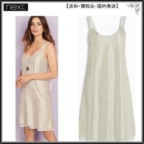【短納期】Next★Cream Metallic Layer Dress